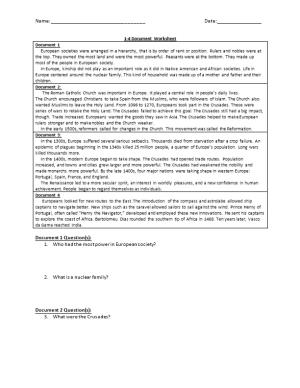 1-4 Document Worksheet