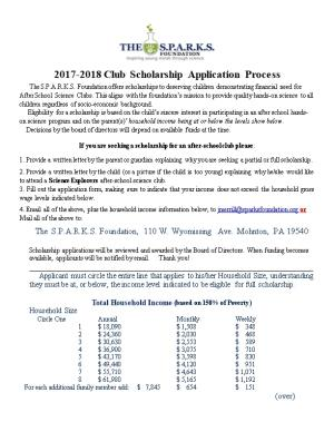 2017-2018Club Scholarship Application Process