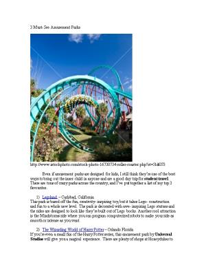 3 Must- See Amusement Parks
