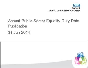 Annual Public Sector Equality Duty Data Publication