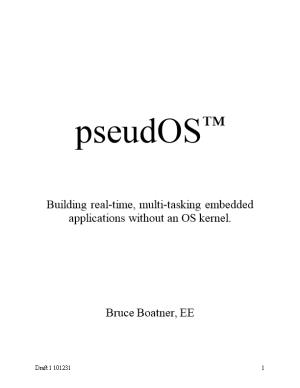 Building Real-Time, Multi-Tasking Embedded Applications Without an OS Kernel