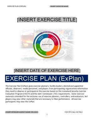 Exercise Plan (Explan) Insert Exercise Name