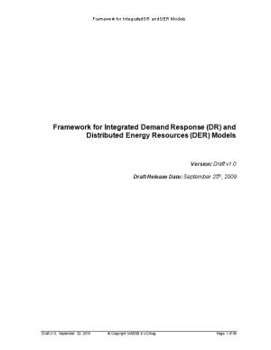 Framework for Integrated Demand Response (DR) and Distributed Energy Resources (DRS) Models
