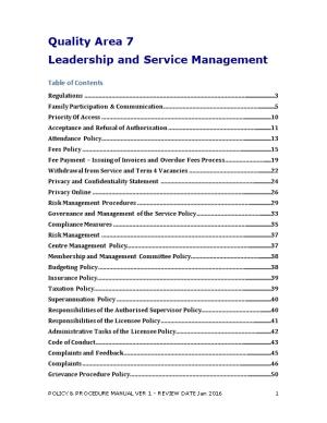 Leadership and Service Management