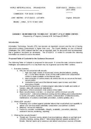 WORLD METEOROLOGICAL ORGANIZATIONISS/ET-EUDCS 2004/Doc.5.1(1)